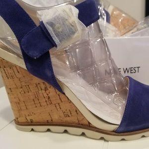 Nine West Blue Suede